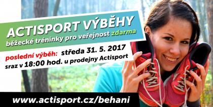 Středeční Actisport výběhy - běžecké tréninky zdarma! 3bc2319374