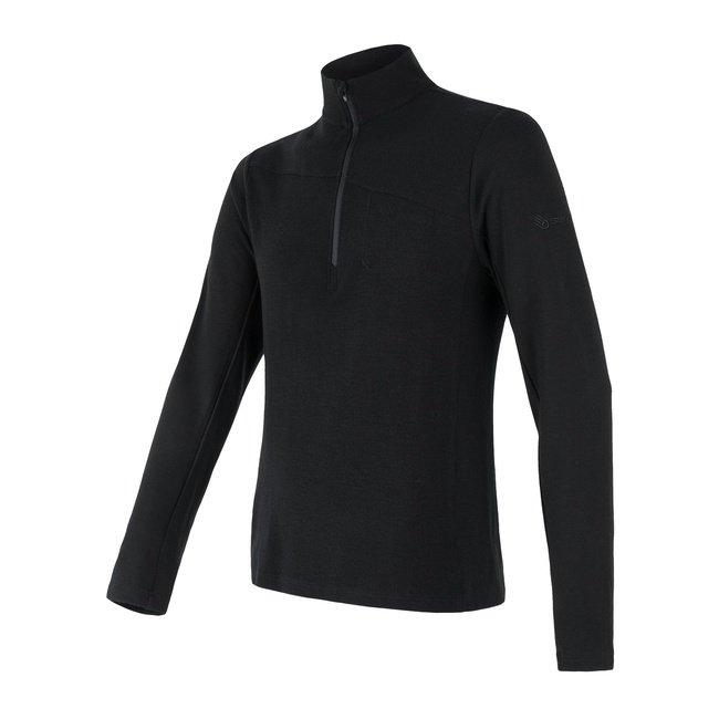 Sensor Merino Extreme pánské triko s dlouhým rukávem zip černá