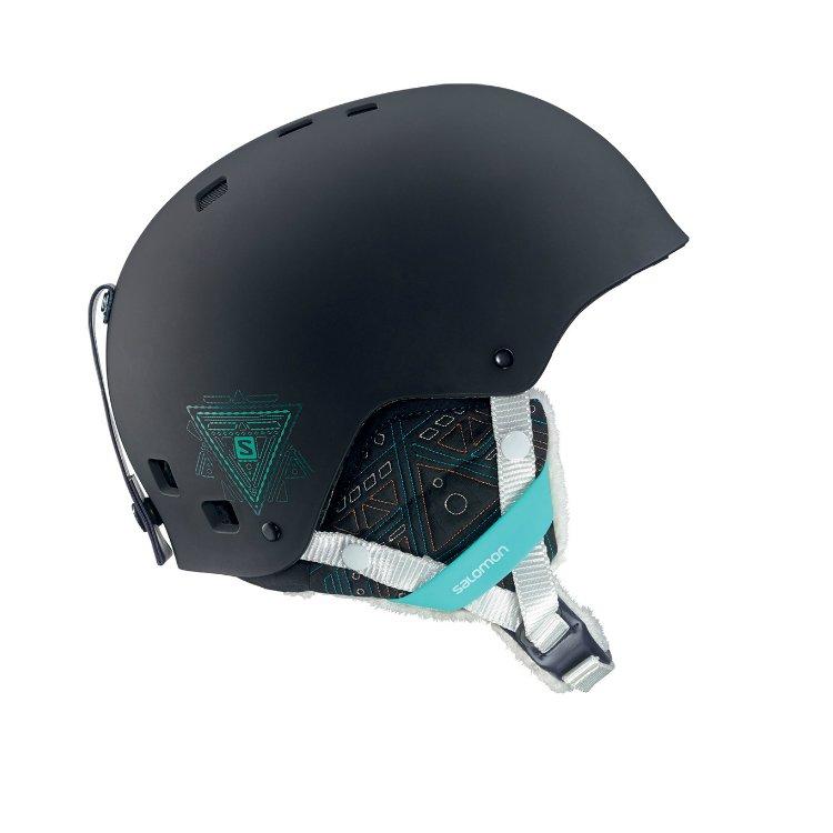 Lyžařská helma Salomon VENOM Black Mat 16/17