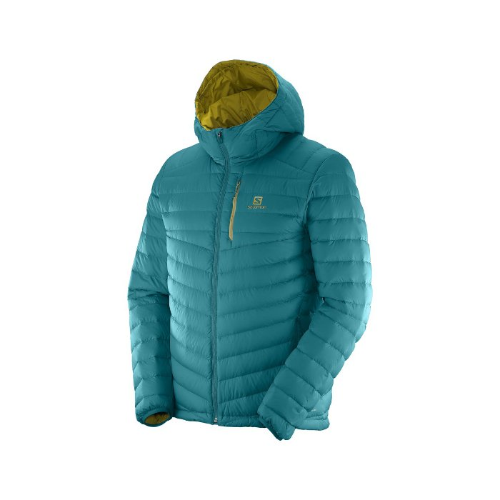 Salomon Halo Down Hoodie M blue L38218700
