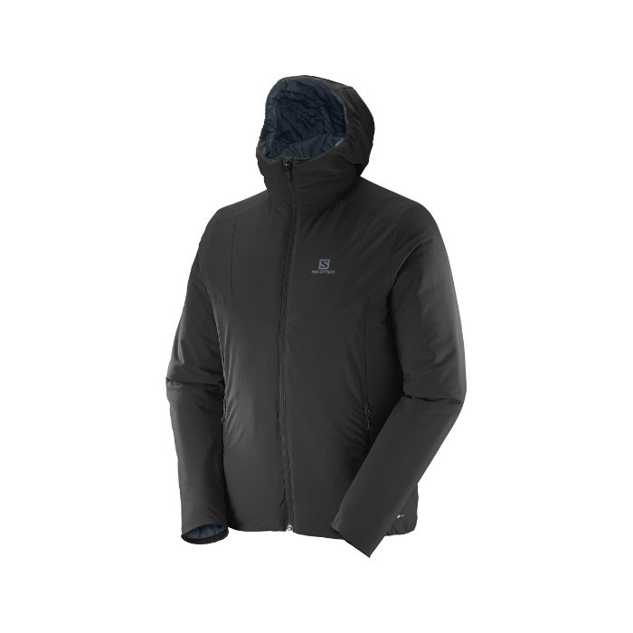 Salomon DRIFTER HOODIE black dark CLOUD