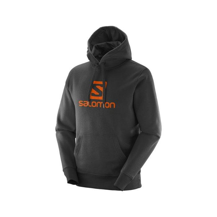 Salomon Logo Hoodie M black L39077100