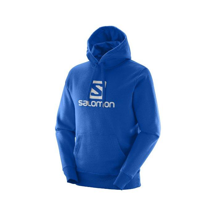 Salomon Logo Hoodie M blue L39077300