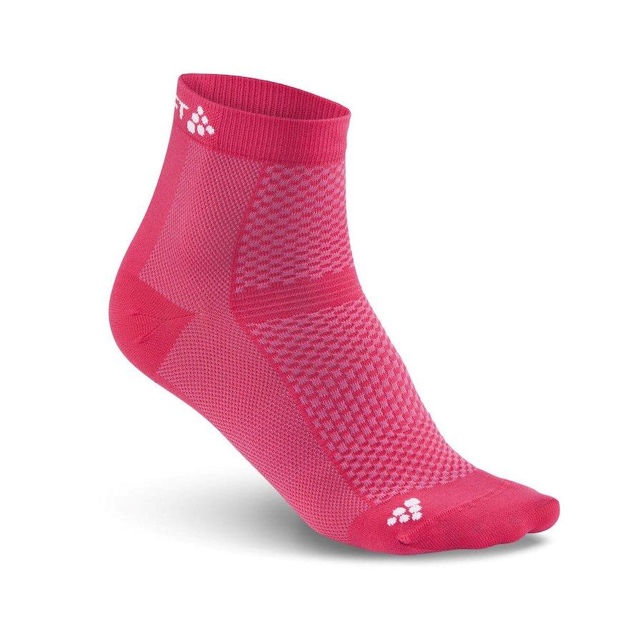 Craft ponožky Cool Mid 2-pack 1905044-2411 - růžová