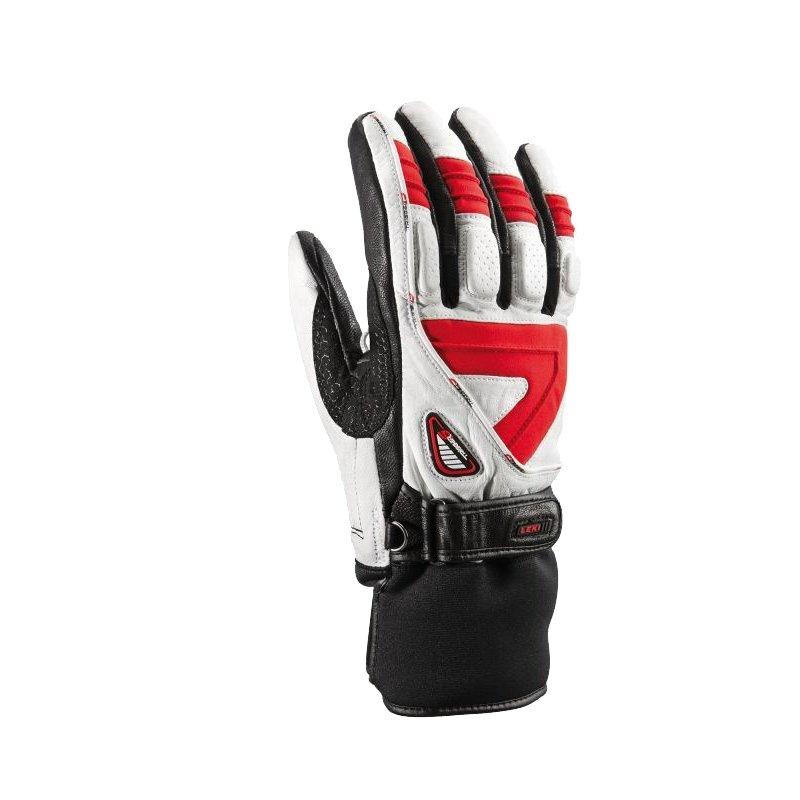 Leki Griffin S lyžařské rukavice bílá/červená/černá