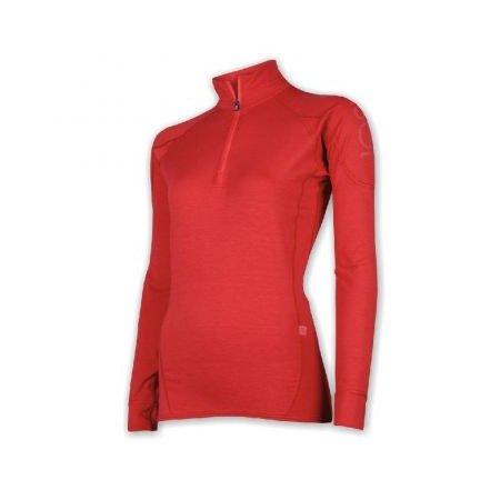 SENSOR THERMO EVO dámské triko dlouhý rukáv stoják zip červená