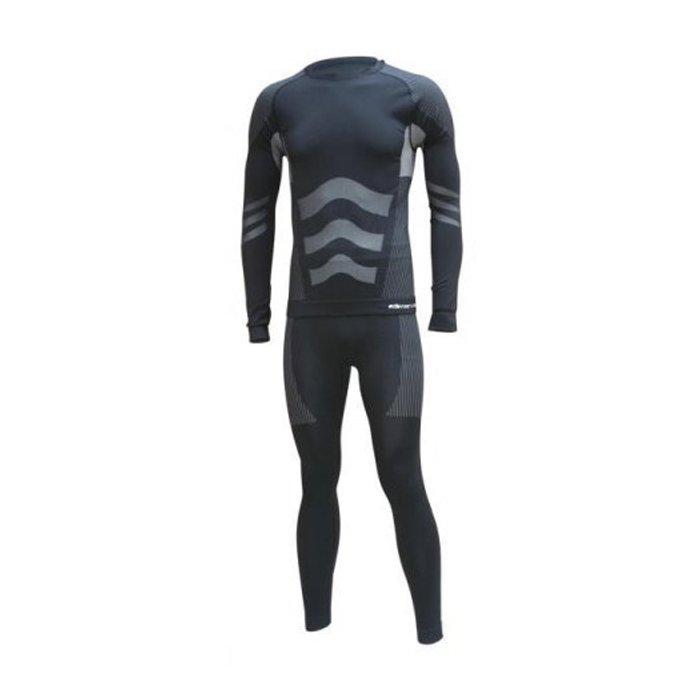 V3 Tec Seamless pánské funkční prádlo komplet černá/antracit